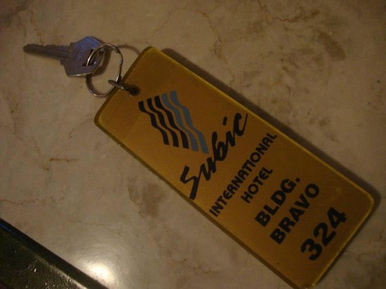 Subic International Hotel: room key