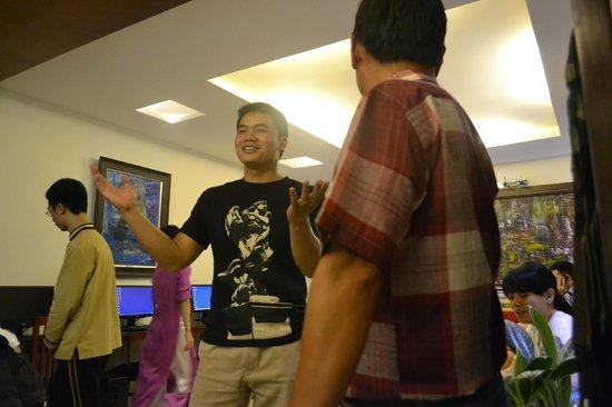 The Light Hotel Hanoi: With GoAsia Manager Mr Martin Nguyen