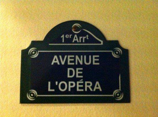 Courcelles-Parc : Türschild Zimmer