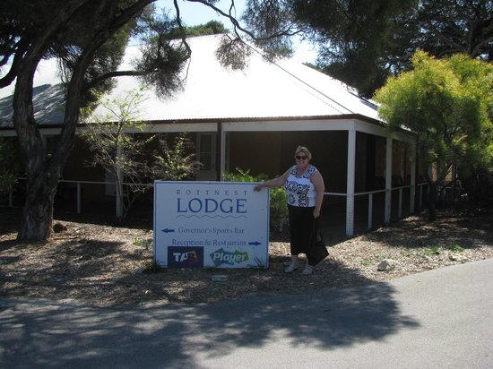 Rottnest Lodge: At the corner of the lodge