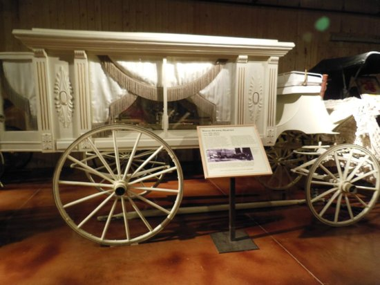 Days of '76 Museum: hearse