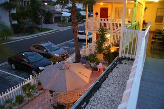 Silver Sands Motel : Silver Sands Mai-Juni 2012 / Aussicht von Zimmer 8 (Balkon)