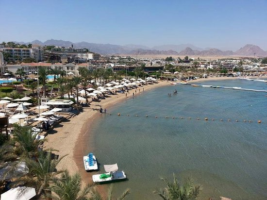 Lido Sharm Hotel: View from hotels terrace