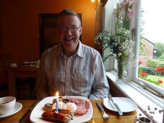 Ash Farm Country Guest House: Birthday breakfast