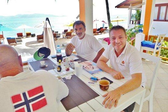 Hacienda Beach Resort: David, the owner (right)
