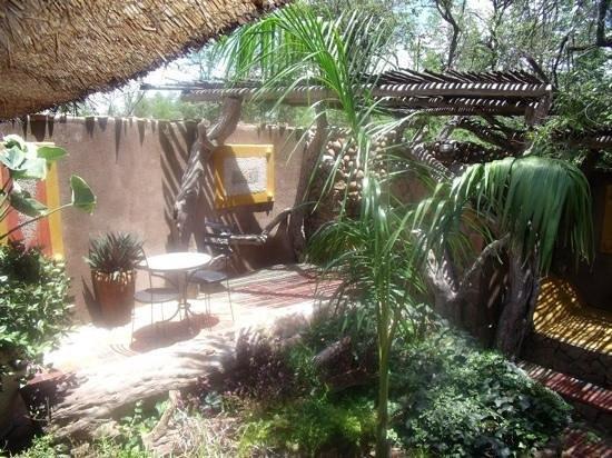 Pamuzinda Lodge: the private garden connected to my room at Pamuzinda Safari Lodge.