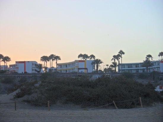 Arco Iris Apartments: Notre appart depuis la plage