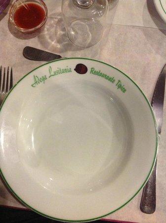 Restaurant Adega Lusitania: Prato