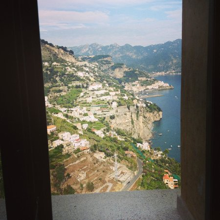Monastero Santa Rosa Hotel & Spa: View from the bathroom