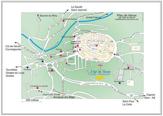 Hotel Mas de Vence : plan Vence