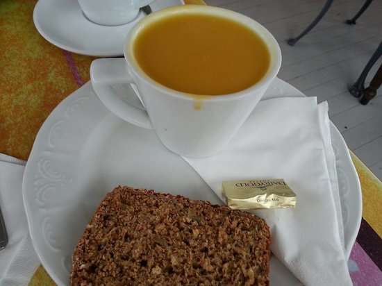 Steam Coffee House: Sweet Potatoe soup!  Very good!  Everything on the menu is amazing!