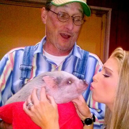 """Comedy Barn's """"Arnold"""" the magic pig!"""