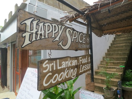 Happy Spice: The entrance just incase you miss it!