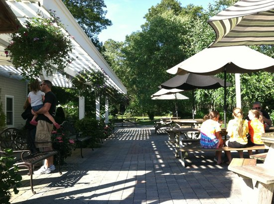 Sweet Carolines Ice Cream : Sun or shade outdoor seating