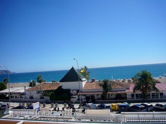 Apartamentos HC Burriana Playa: Utsikt fra terrassen vår i 2. etg.