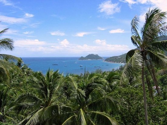 Koh Tao Heights Exclusive Apartments: Blick auf die Sairee Bucht