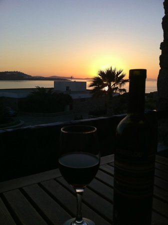 Mykonos Theoxenia : Sunset from room's balcony