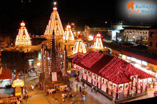 NAVRATRI FESTIVAL IN KOLHAPUR IN SHREE MAHALAXMI DEVI TEMPLE