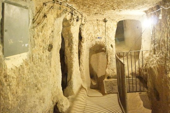 Mazi Underground City: Entrance into the caves