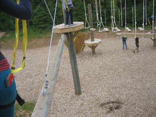 Rise and Climb Adventure Course: Smiley to keep us going!