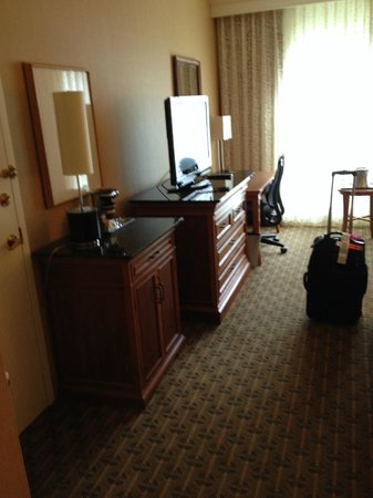 Hilton Seattle Airport & Conference Center: The work desk.