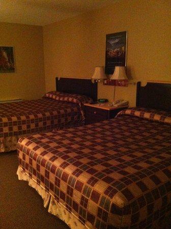 Hotel Baie Saint Paul : 2 lits doubles