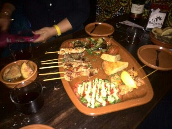 La Bodega: second plate of the menu x 3 ...
