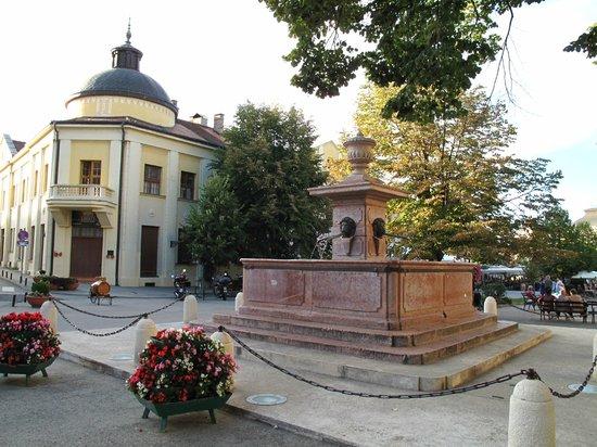 Sremski Karlovci: four lions fountain