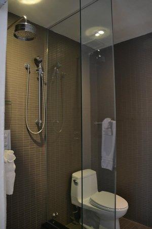 Hotel Ocho: baño. buena presión de ducha