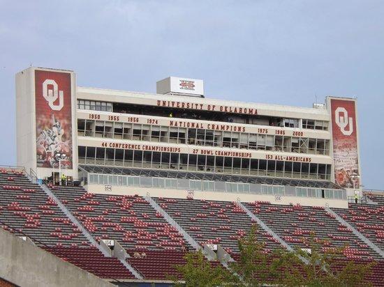 Press Boxes - Picture of Oklahoma Memorial Stadium, Norman ...