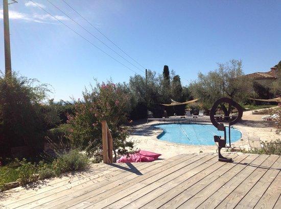 Maison d'Hôtes Bleu Azur : The peaceful pool area