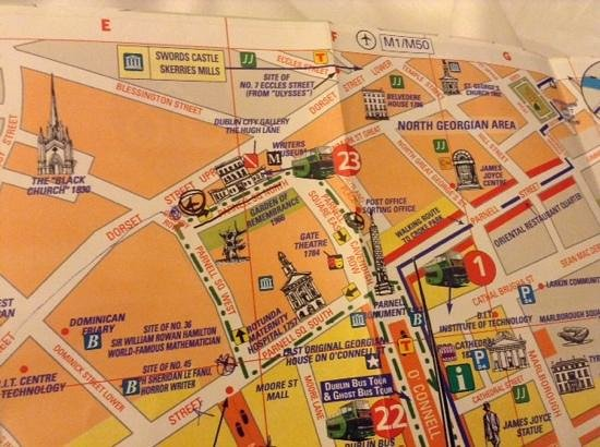 Maldron Hotel Parnell Square: map of where hotel is in Dublin