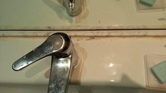 Parador de Ciudad Rodrigo: Parador Ciudad Rodrigo Bathroom Sink with mould