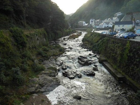 Hillside House: River at Lynmouth