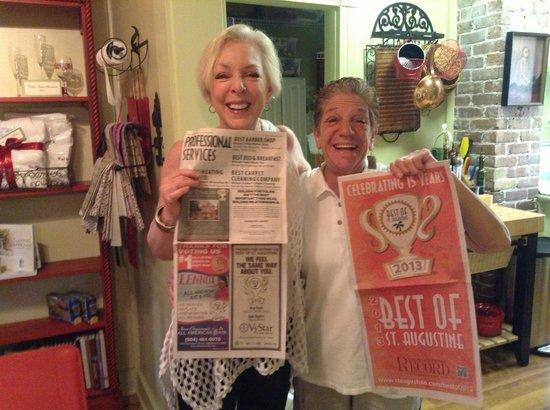 The Cedar House Inn: Our happy innkeeper