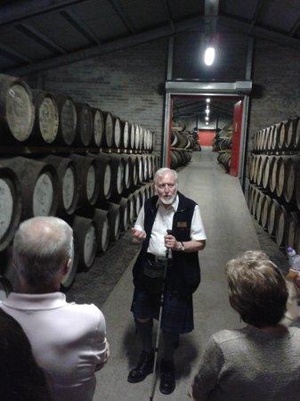 Edradour Distillery: Våran trevliga guide