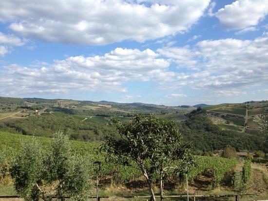 La Cantinetta di Rignana: vista dalla terrazza