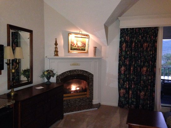 Nordic Village Resort: Fireplace was cozy