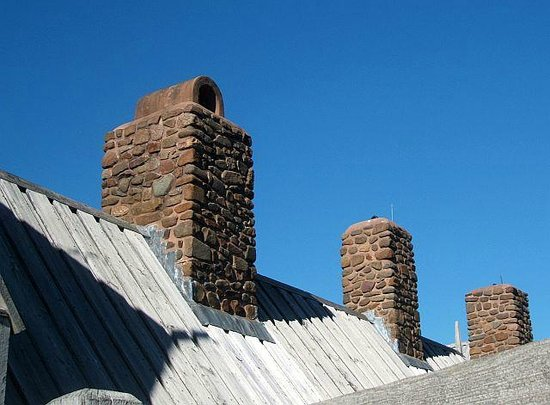 Port-Royal National Historic Site: Interesting chimney construction