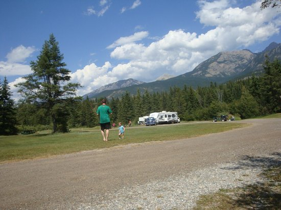 Spruce Grove Resort: the back of the park, no service sites