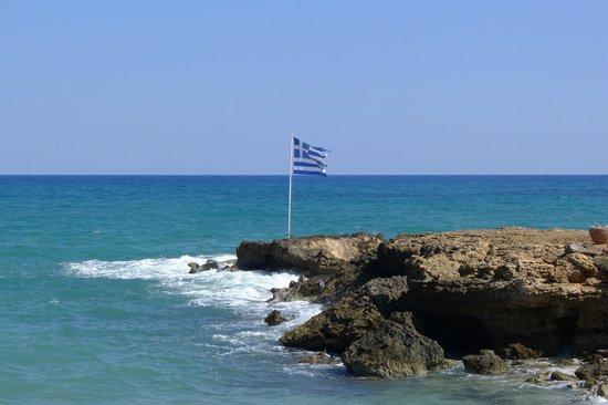 Blue Aegean Hotel & Suites : the Greek flag waves yet...