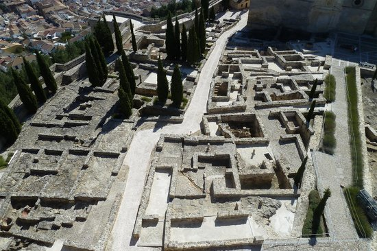 Fortaleza de la Mota: Uitzicht vanaf de toren op de opgravingen
