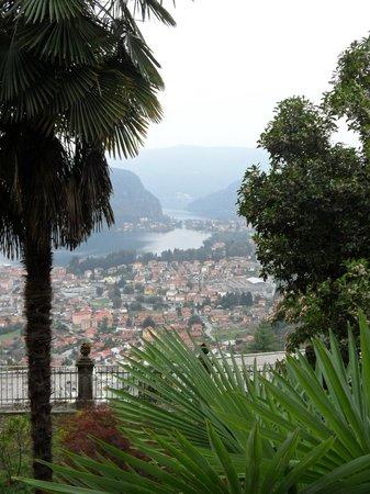 Albergo Ristorante Stampa: zicht op meer van Lugano
