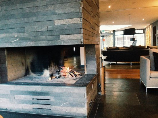 The Cambrian : Lobby fireplace
