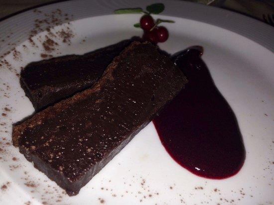 La Taverna di Moranda : Fondente con glassa ai frutti di bosco