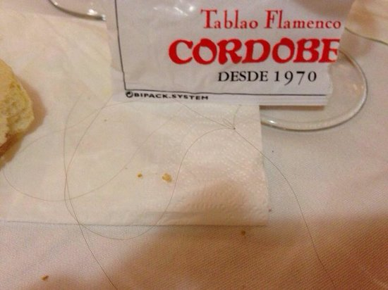 Tablao Cordobes : Hair in the food! P.s: they didn't even apologize..