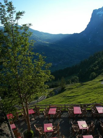 Alpiglen: View from Alpiglen, of Wetterhorn and Grosse Scheidegg
