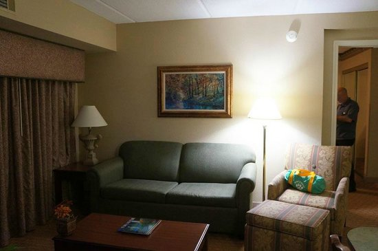 Homewood Suites by Hilton Charlotte Airport: Living Area