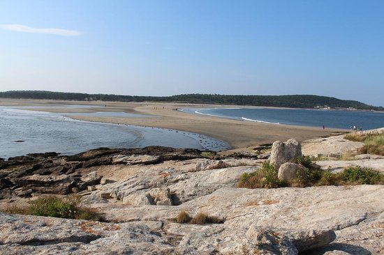 Popham Beach State Park: Low tide allows you to cross the sandbar to rock island and explore some more. Also to gather mo