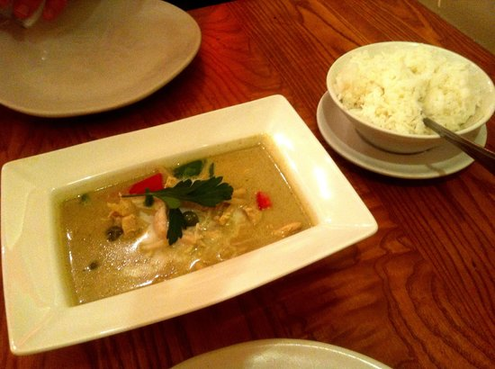 Thai Square Hanover Square: Green Chicken Curry with Rice